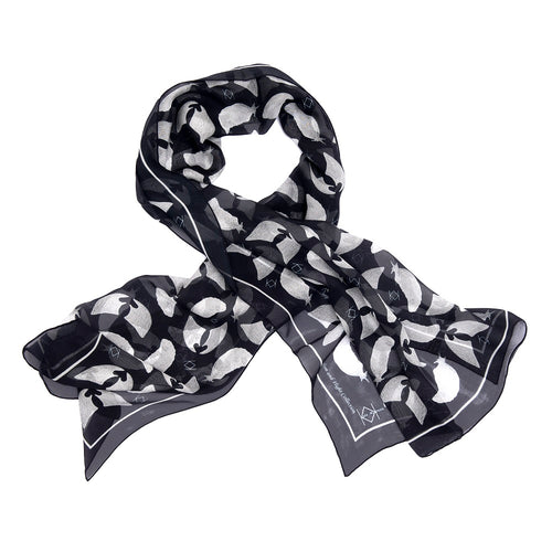 Freedom & Flight Silk Wrap Scarf in Navy (only 2 left)