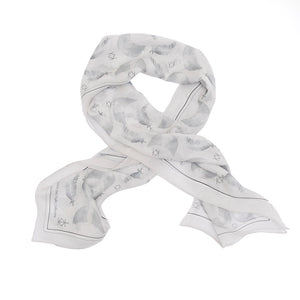 Freedom & Flight Silk Wrap Scarf in Grey (only 3 left)