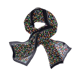 Save the Children Silk Wrap Scarf in Navy with Colour