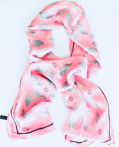 breast cancer awareness exclusive discount on pink silk scarf