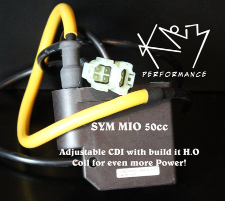 CDI DC 50cc SYM Mio Adjustable with built-in HO Coil