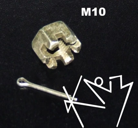 Castle Nut M10 with Kotter Pin