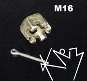 Castle Nut M16 with Kotter Pin