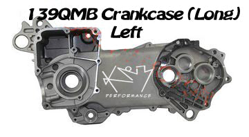 Crankcase Cover 139QMB Left side Long Case 17inch