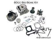 Cylinder Big Bore 50cc Upgrade to 80cc (70mm Valve length) kit