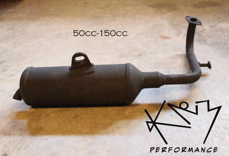 Exhaust Muffler 50cc-150 Scooter with EPA Tube