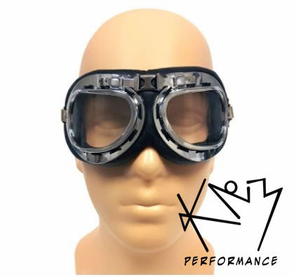 Goggles Retro Aviator Clear