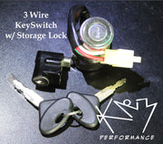 Ignition Switch with Keys and Trunk Lock 3 Pin 150cc Gokart