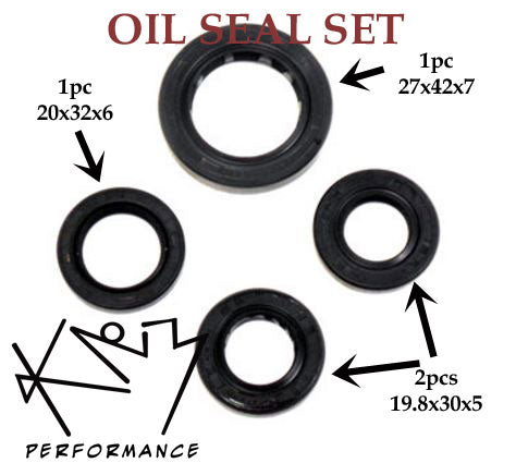 Oil Seals 4pc Set GY6