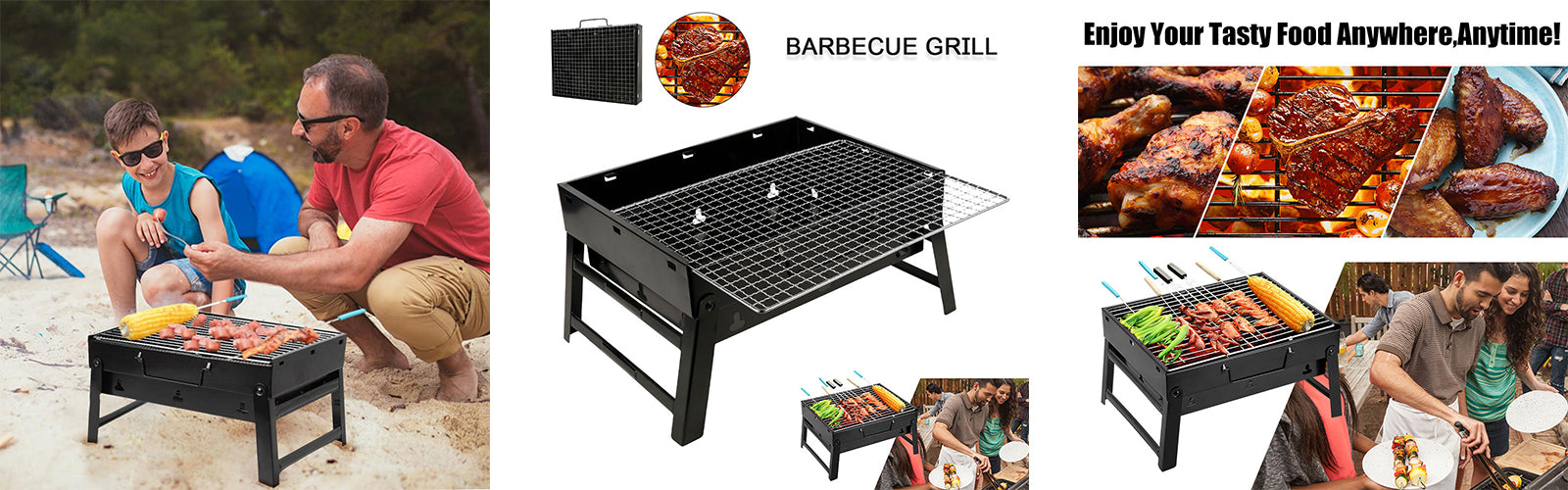 Barbecue portable à charbon de bois