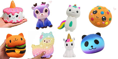 Squishy smoochy mochy antistress animaux licorne rigolo