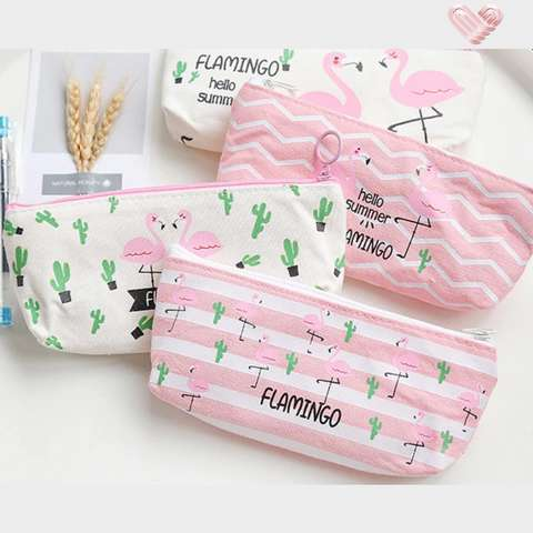 trousse maquillage flamant rose flamingos