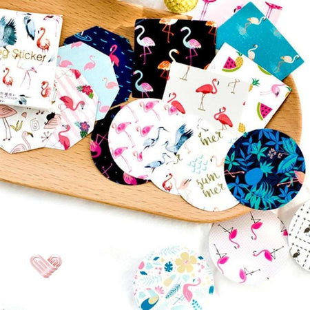 stickers autocollants flamant rose