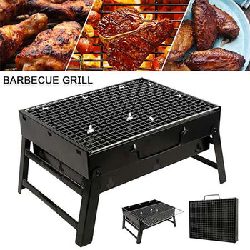 Barbecue Grill Pliable et Portable Charbon Bois Camping PicNic Terrasse Jardin 35cm