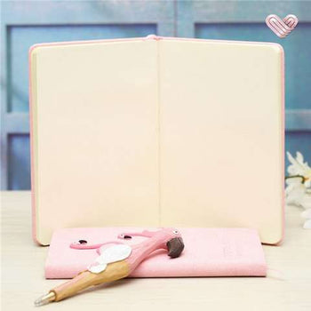 Coffret cadeau notebook-stylo Flamant rose ou Licorne