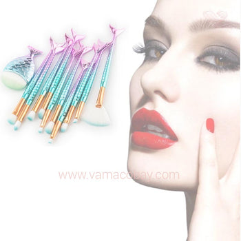 Lot de 10 pinceaux maquillage professionnels