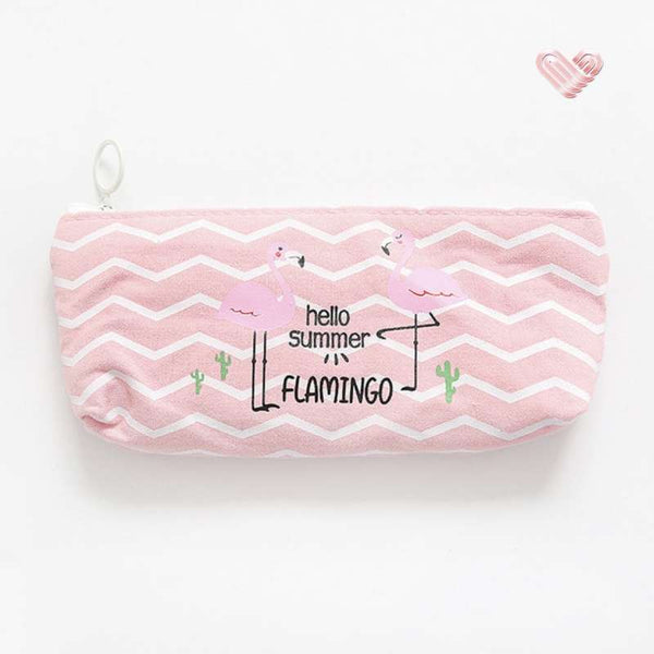 trousse flamingos flamant rose