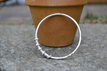 40th birthday silver bangle