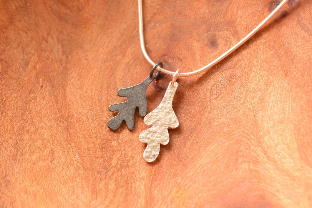 Oak leaves necklace