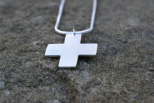 Contemporary silver cross