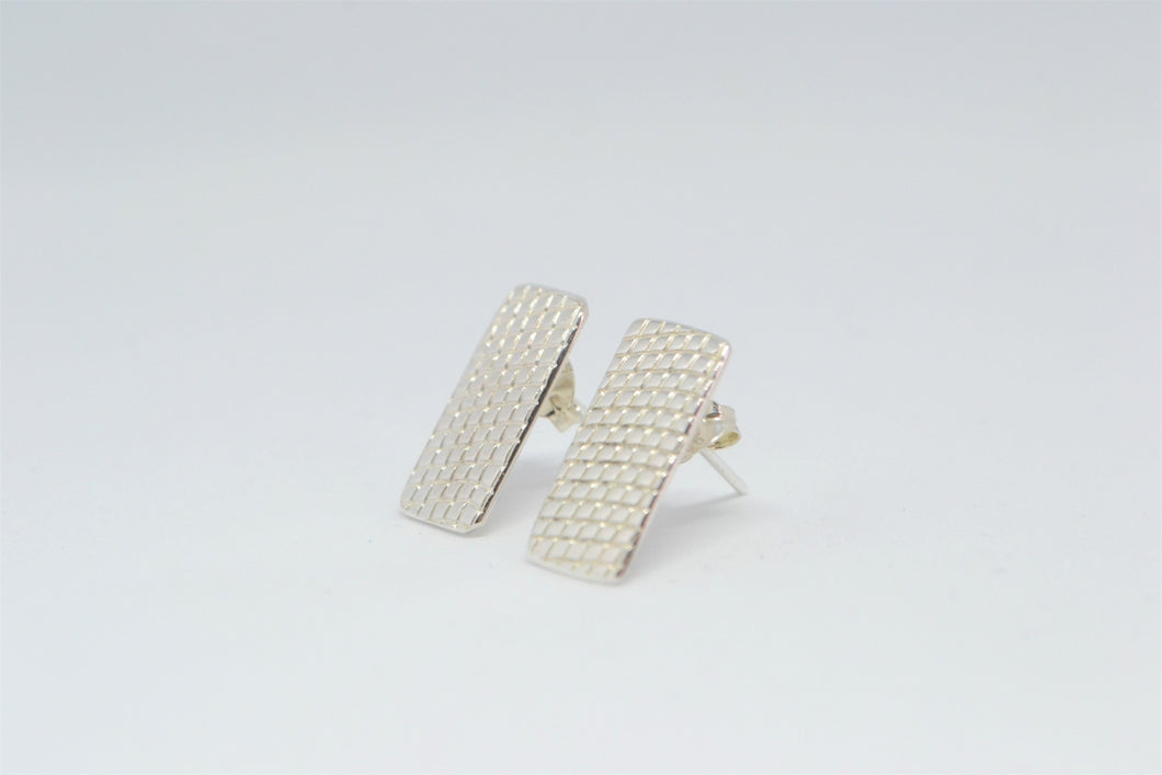 Rectangular stud earring