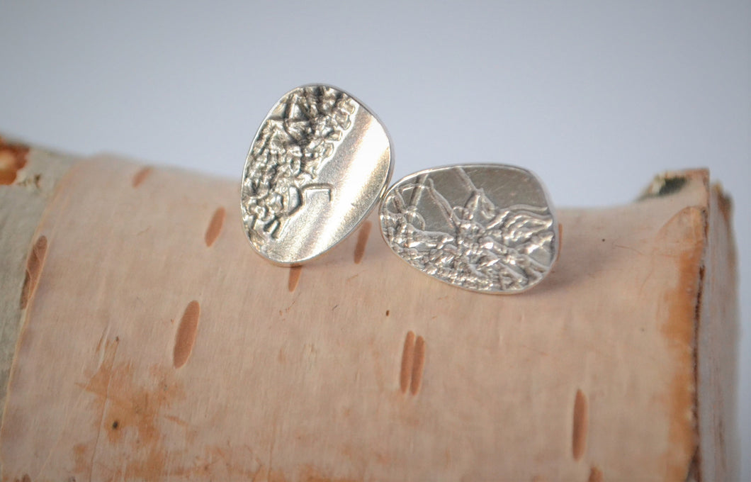 Abstract texture silver studs