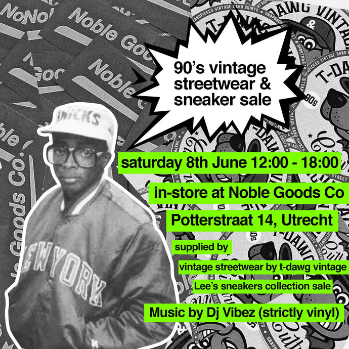 In-store event: 90's Vintage Streetwear and Sneaker Sale