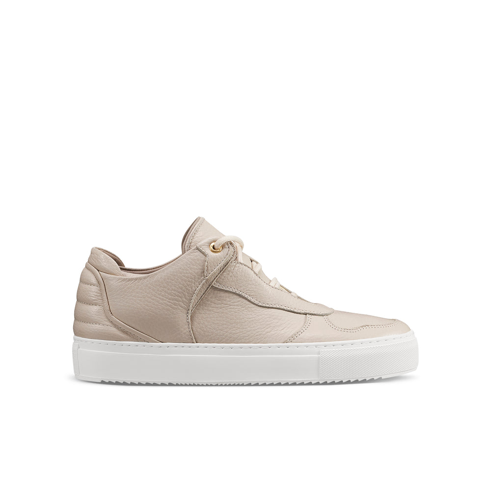 OFFSET Brand Mika Beige Leather Low Top Sneakers