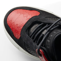 OFFSET Brand Mika Black Red Leather Low Top Sneakers