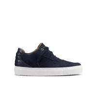 OFFSET Brand Mika Navy Blue Leather Low Top Sneakers