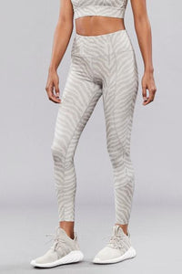Silver zebra leggings