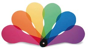 Color Paddles - 3 sets of 6 colors