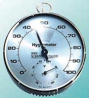 Dial Hygrometer/Thermometer | Plastic Face for Cleanliness