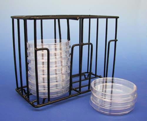 Petri Dish Holder | Can Be Carried & Stacked | Hold Up to 18 Dishes