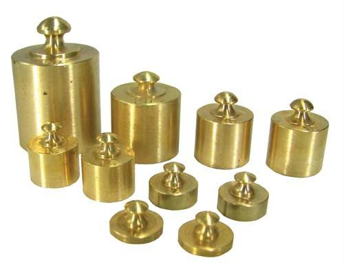 10 pc. Brass Weight Set | Two Each: 1g, 2g, 5g, 10g | One Each: 20g, 50g