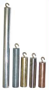 Specific Heat Specimen Set | Five Metal Cylinders with Hooks