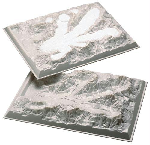 "Alpine Glacier Model | Observe Glacial Movement | 18"" x 24"""