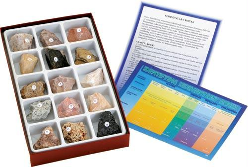Sedimentary Rock Collection | 15 Specimens Included | Grades 5-12
