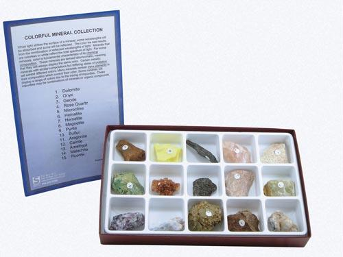 "Colorful Minerals Collection | Grades 5-12 | 1"" x 1.5"" Specimens"