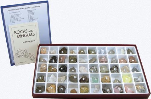 Superior Rock and Mineral Collection | 50 Specimens | Grades 5-12