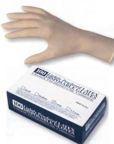 Latex Gloves | Box of 100 | Four Sizes Available