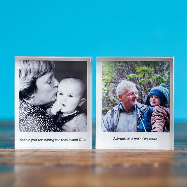 personalised photo acrylic block for grandparents