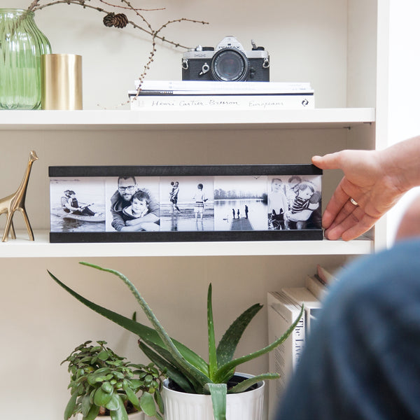 Wooden Lightbox with Photos