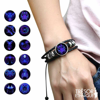 Bracelet Constellations du Zodiaque Luminescent