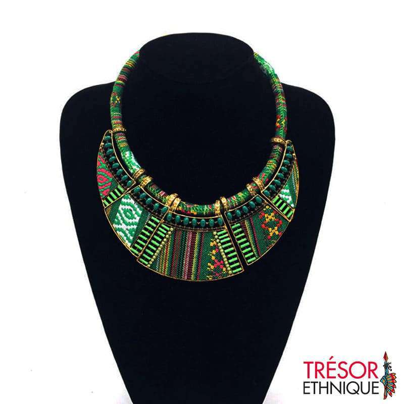 Collier Traditionnel De Cérémonie Malachite Trésor Ethnique
