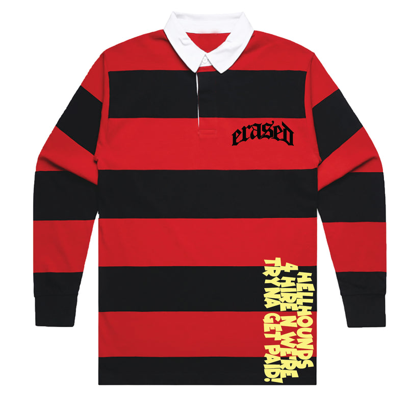 FREDDY'S LONG SLEEVE POLO - RED/BLACK