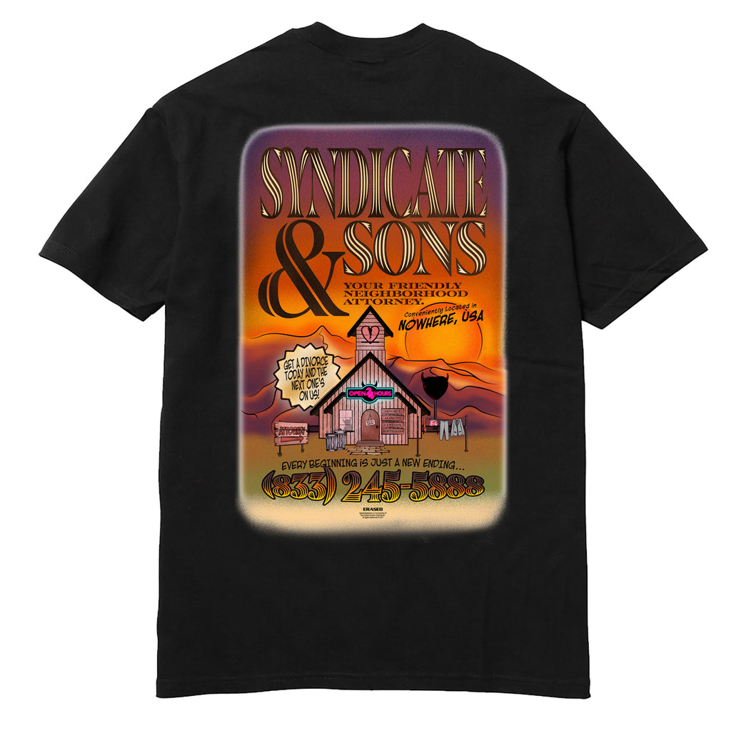 SYNDICATE & SONS TSHIRT - BLACK