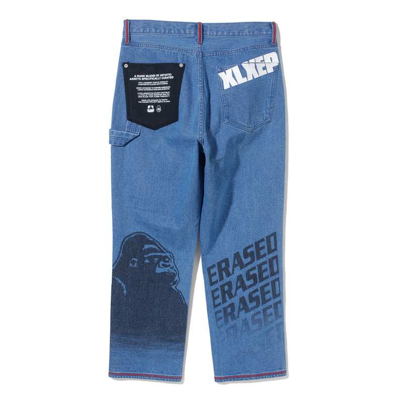 JAPAN/US EXCLUSIVE PATCHWORK DENIM PANTS - INDIGO BLUE
