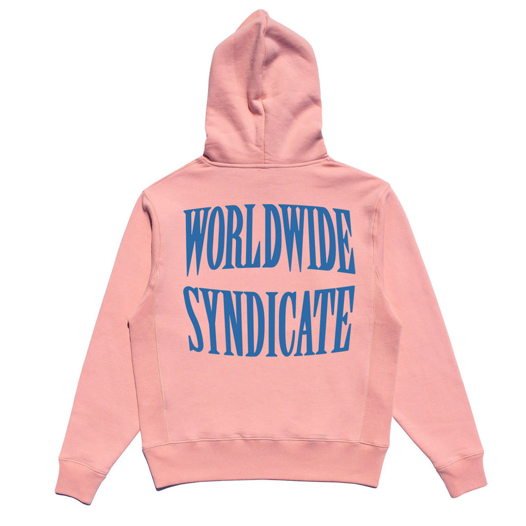 SYNDICATE EMBROIDERED PREMIUM HOODIE - PINK