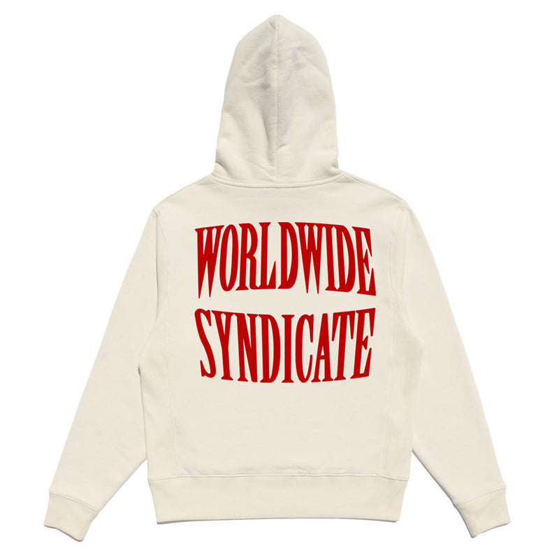 SYNDICATE EMBROIDERED PREMIUM HOODIE - BONE